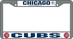 Chrome EZ View License Plate Frames Rico Chicago Cubs MLB Set of 2