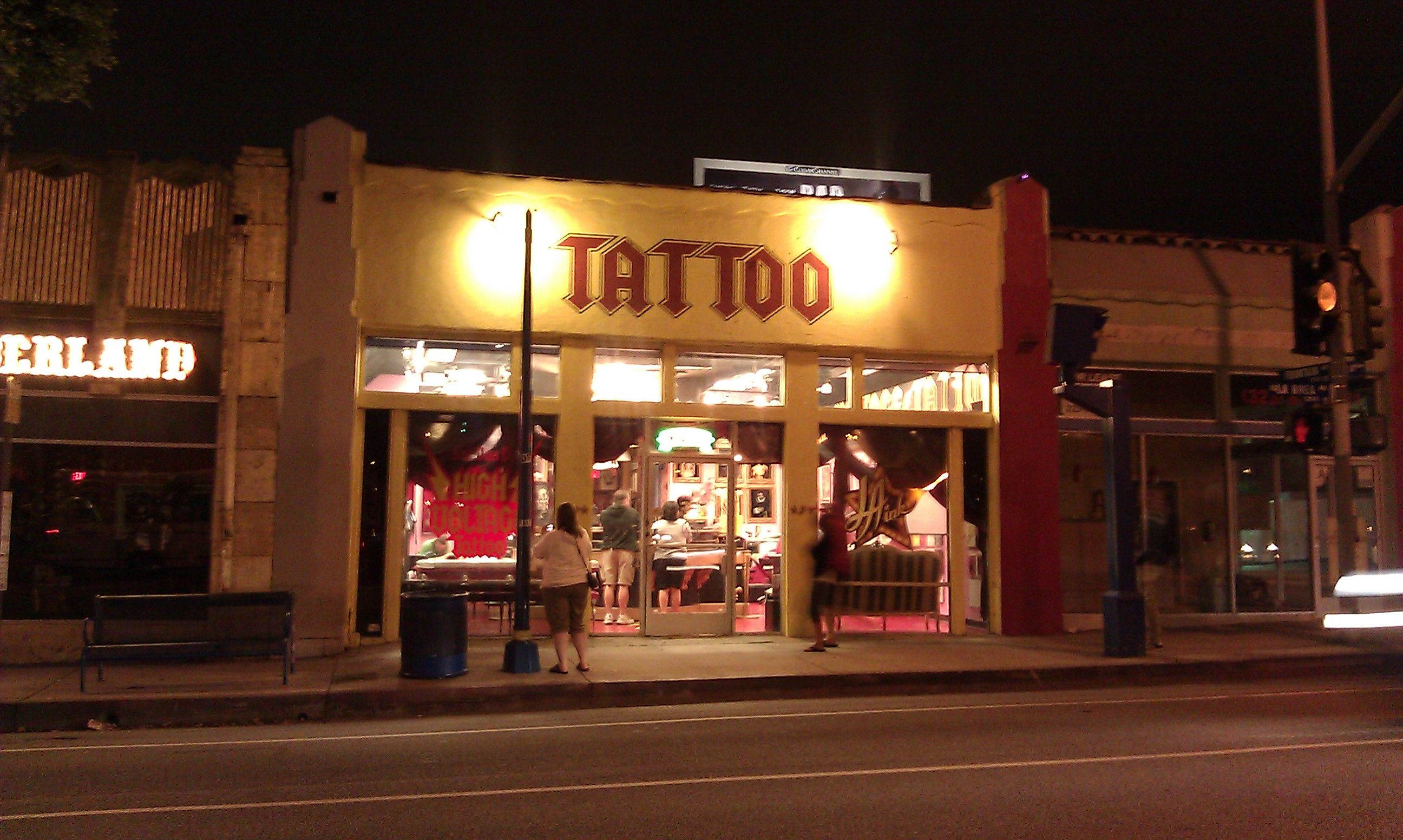 High voltage tattoo shop getting tattooed from high voltage