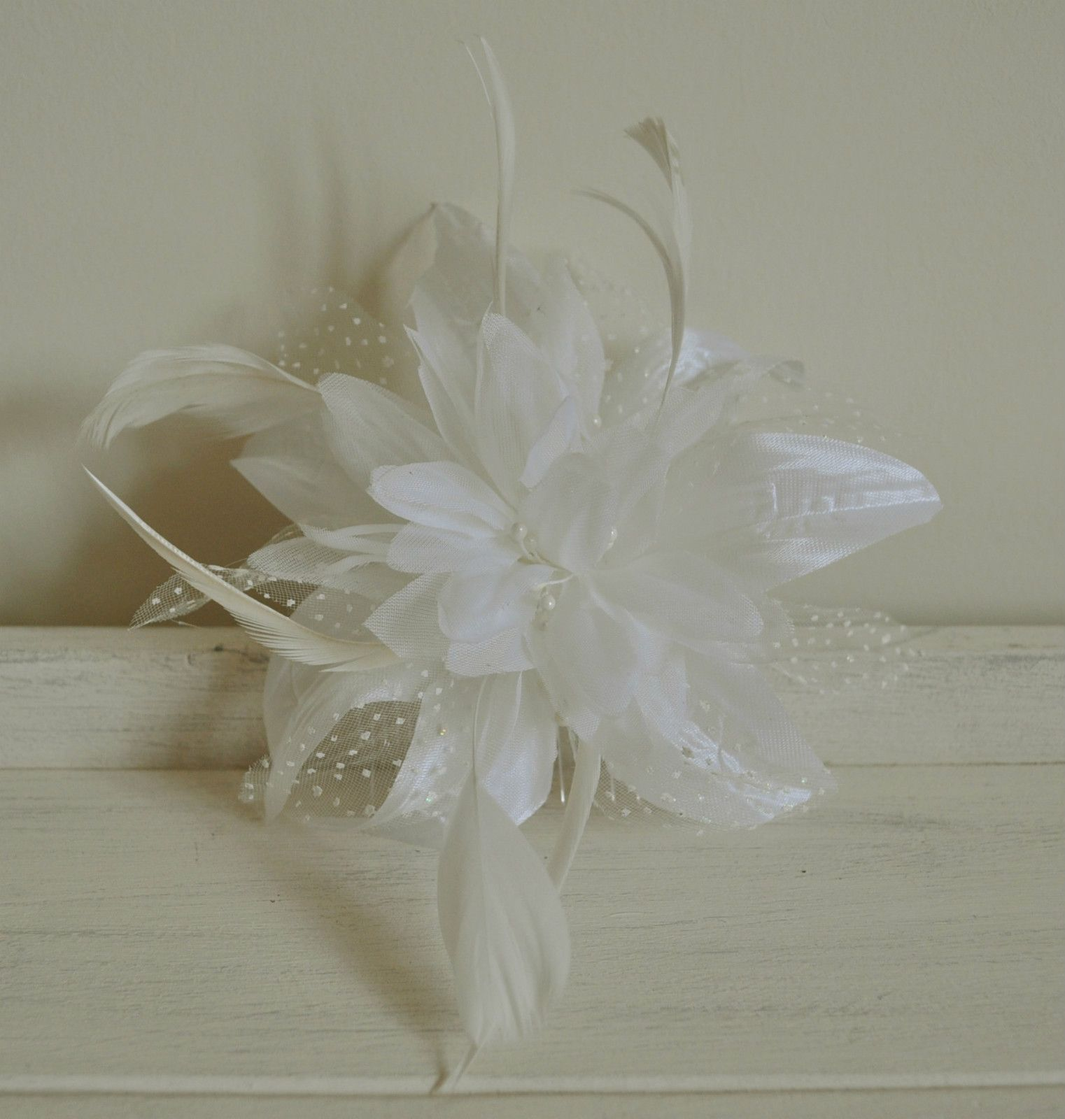 http   www.pretza.co.uk products hair-accessories fascinators  Cream Flower    Net Comb Hair  Fascinator bf1f4f0ca