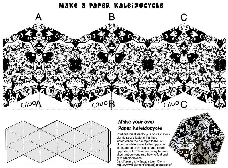 Kaleidocycle To Print And Fold  Card Stock And Craft