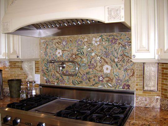 Mosaic Floral Backsplash Mosaic Backsplash Kitchen Mosaic