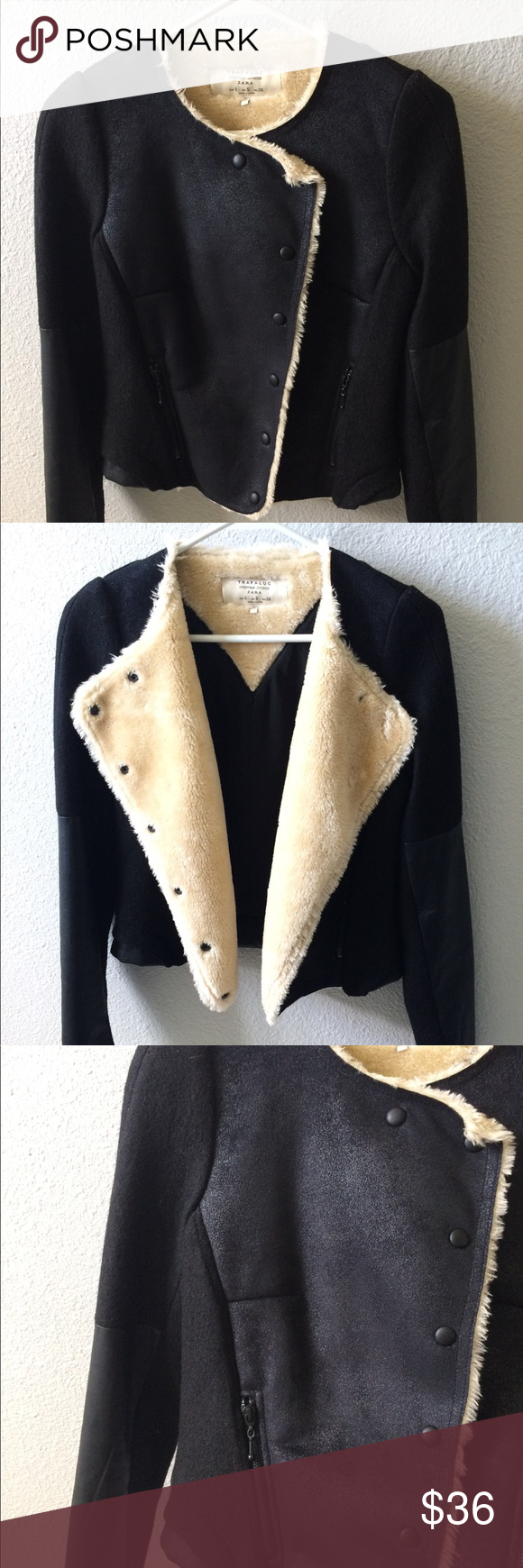 Zara Trafaluc Outerwear Division Jacket Fall Winter Jacket Zara Outerwear [ 1740 x 580 Pixel ]