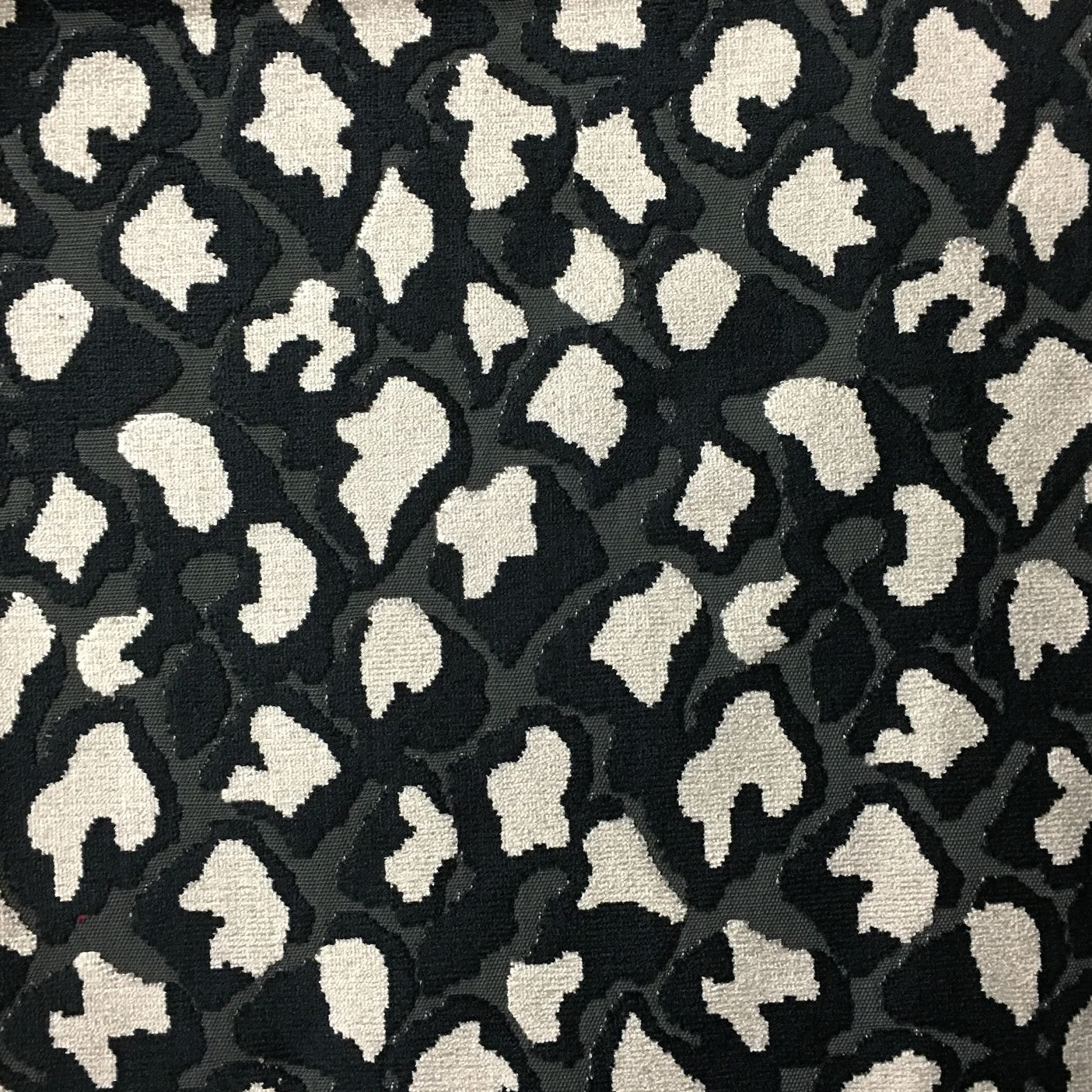 Hendrix Leopard Print Cut Velvet Fabric Upholstery By The Yard Available In 15 Colors Domino Top 1