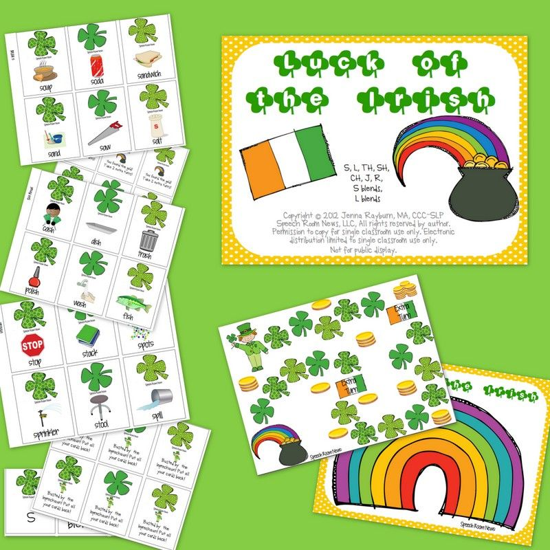 St. Patrick's Day Articulation Packets Articulation