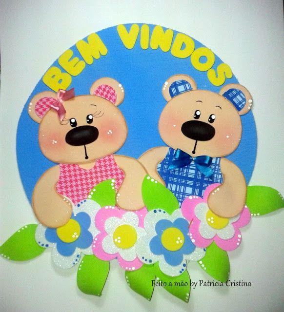 Bem Vindos Ursinhos Com Imagens Decoracao Sala De Aula Porta