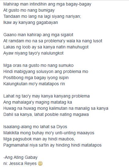 Tula sa pagiging makabansa | Filipino | Tagalog, Filipino