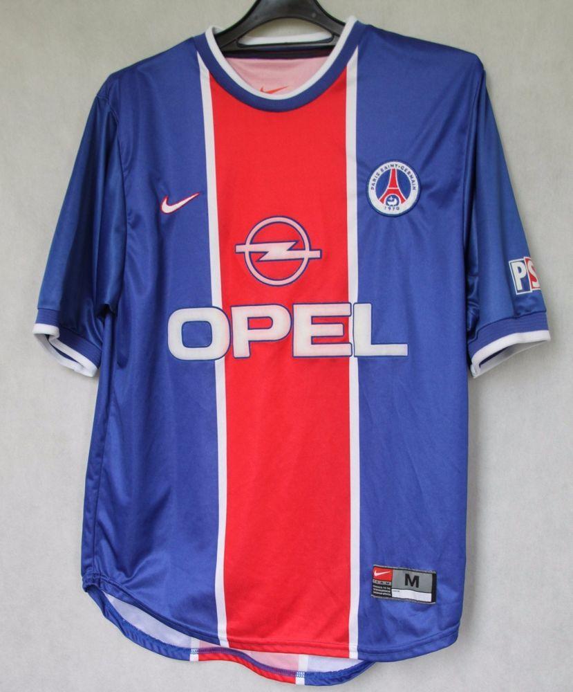 Psg black and pink jersey - Paris Psg Saint Germain France 1999 2000 Home Football Jersey Nike Sz M 015
