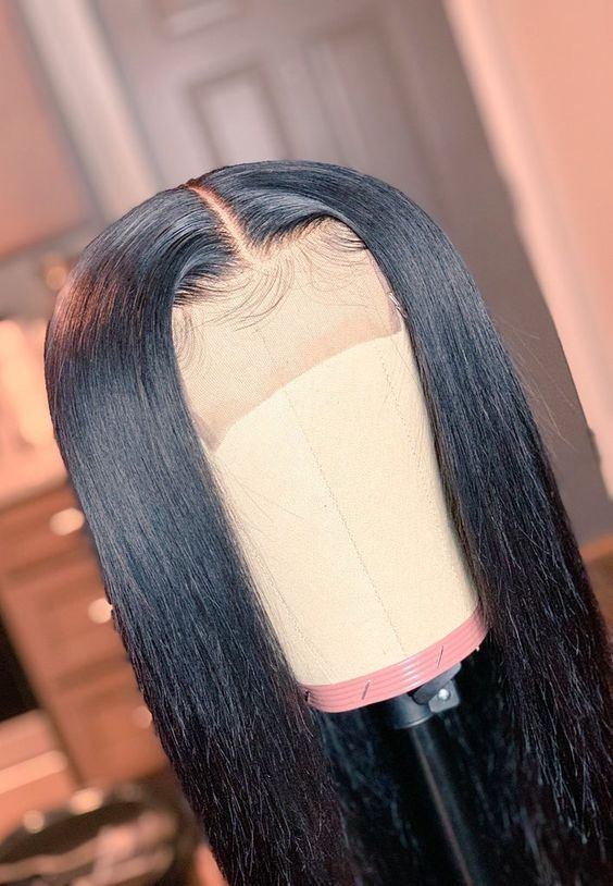 Brazilian Virgin Human Hair Pre-Plucked Silky Straight Full Lace Wigs #lacewigs