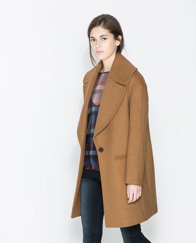 Image 3 Of Coat With Large Lapel From Zara Zara Coat Clothes Coat