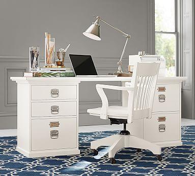 Bedford Rectangular Desk Set #potterybarn In Expresso   2 Back To Back To  Make A