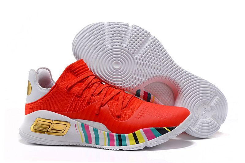 Cheap UA Curry 4 Low CNY Rocket Red White-Black-Gold Sale