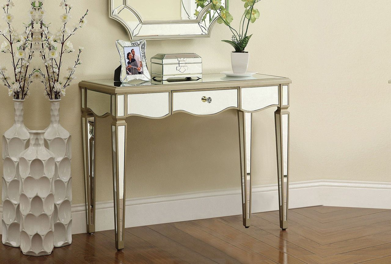 Selby antique silver console table 90132 silver console table acme selby antique silver console table 90132 geotapseo Image collections