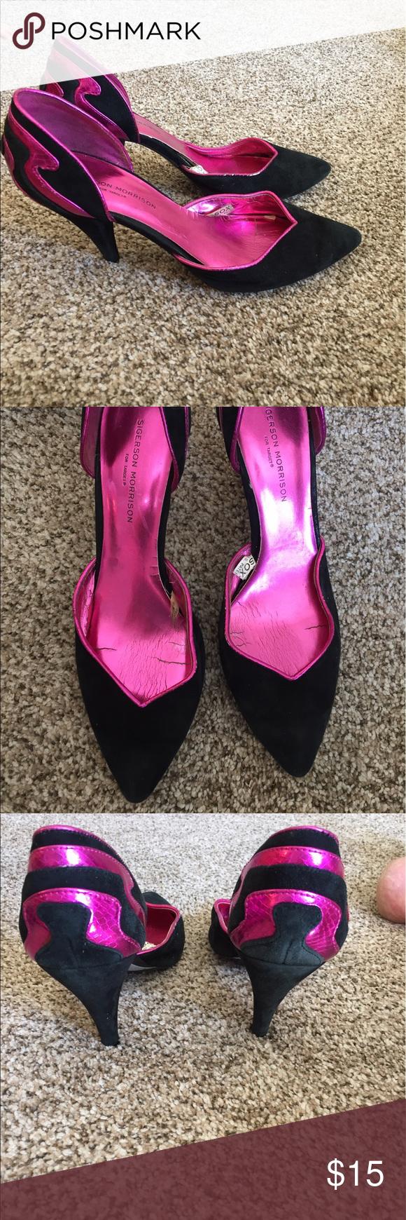 6e528c024 Size 10 Sigerson Morrison for Target pumps Pink and black. Sigerson  Morrison Shoes Heels