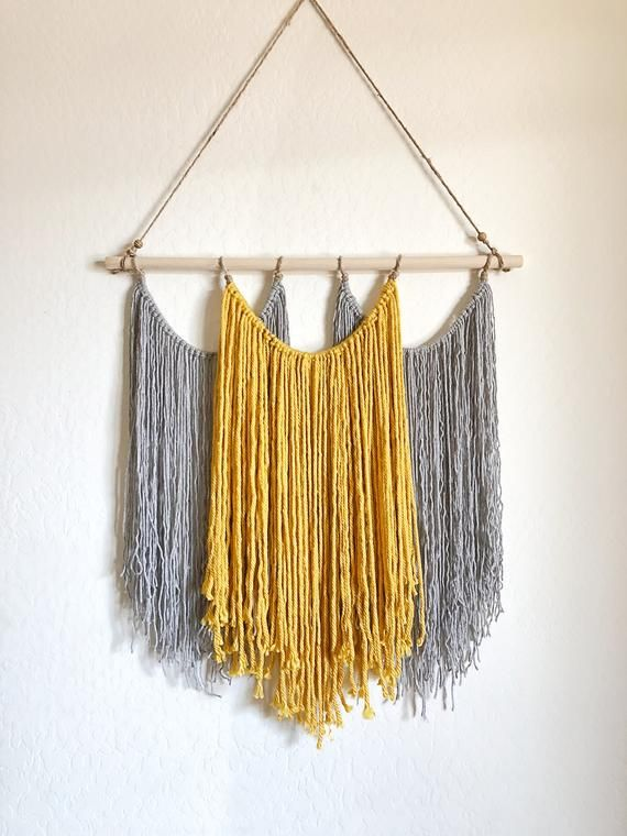 Macrame wall hanging medium, medium macrame wall hanging, gold macrame wall hanging, wall hanging gold macrame, The Sarah in medium #onehome