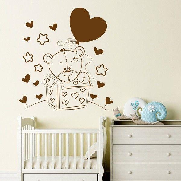 Kinderzimmerdekoration - Exklusive Wandtattoo Kinderzimmer | Teddy ...