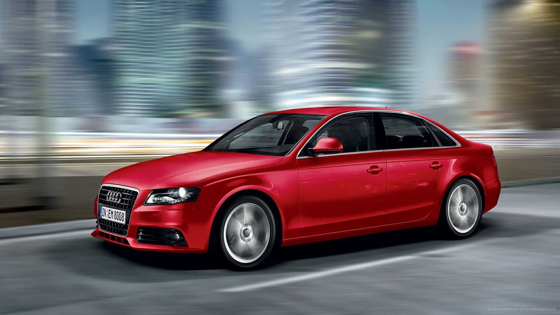 Audi A4 Red 2012 Babe On The Road Wow