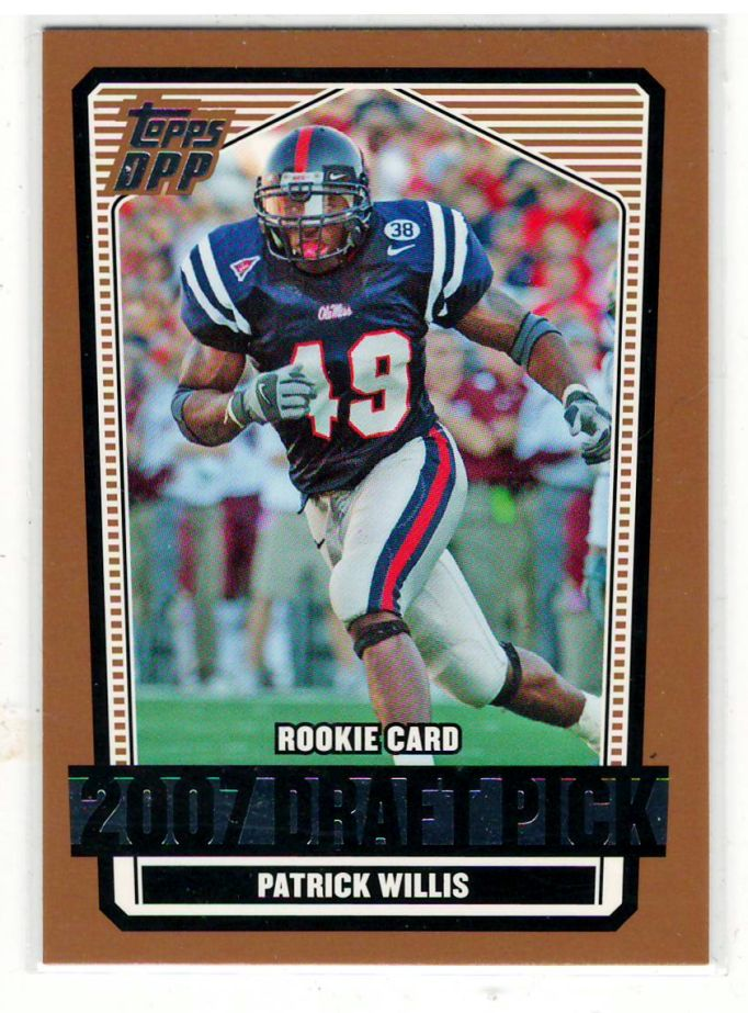 Sports Cards Football – 2007 Topps Patrick Willis – Mississippi College 5 Card Lot – Free Shipping