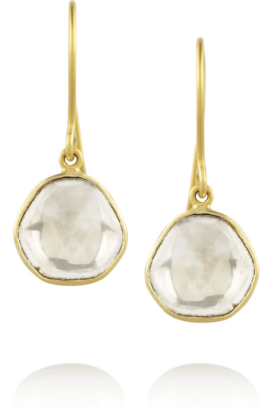 Gold Diamond Drop Earrings By Pippa Small