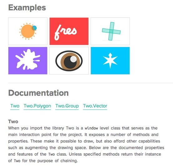 Two js is a two-dimensional drawing api geared towards modern web