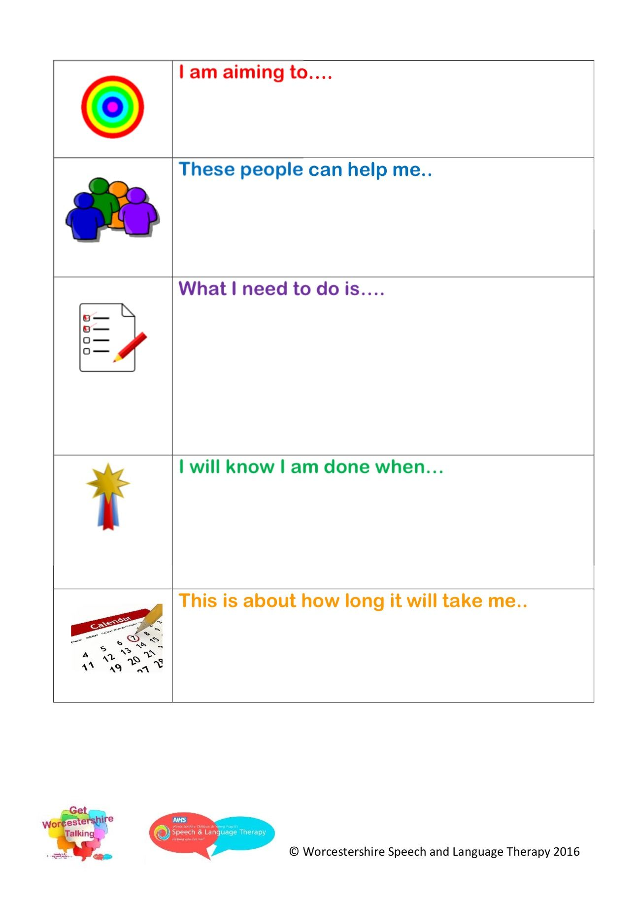 Resource For Setting Targets With Children And Young People Target Setting Solution Focus Solution Focused Therapy Therapy Worksheets Counseling Activities