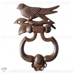 Heurtoir de porte oiseaux en fonte