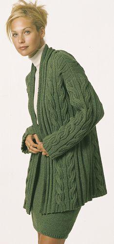 Free Pattern: Stunning cabled long jacket Knit Sweater #2dayslook #KnitSweater #susan257892 #ramirez701 #sasssjane www.2dayslook.com