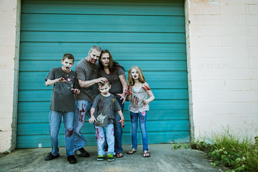 Zombie family portrait katie smith photography