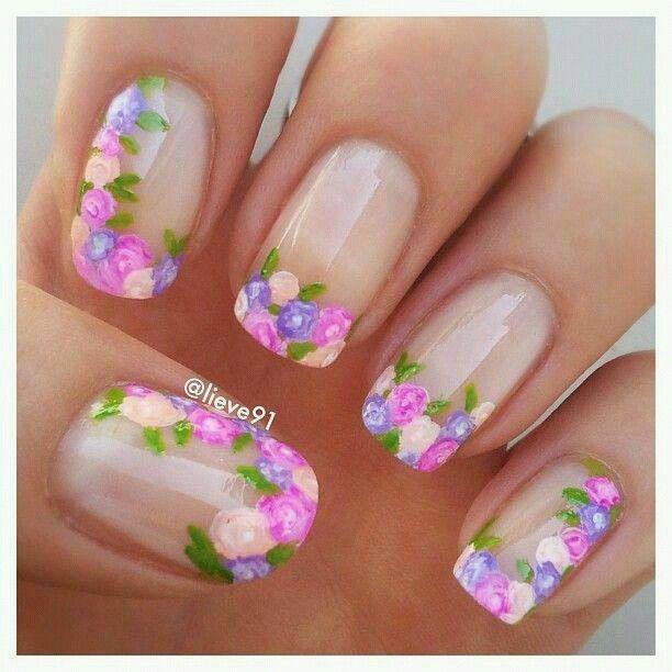 Unas uñas sencillas, pero muy bonitas | Diseños de uñas | Pinterest ...