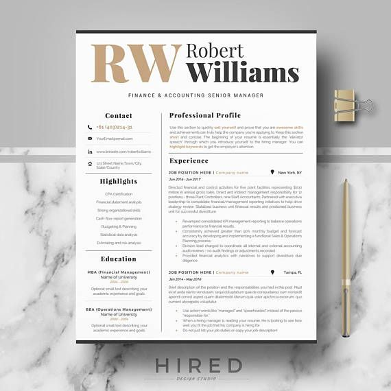 Modern U0026 Professional Resume Template For Word, Modern CV Design, Resume  Modern, Instant Download Resume, Professional CV, Curriculum Vitae