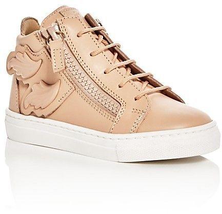 Giuseppe Zanotti Girls' Birel Wings Mid Top Sneakers Baby