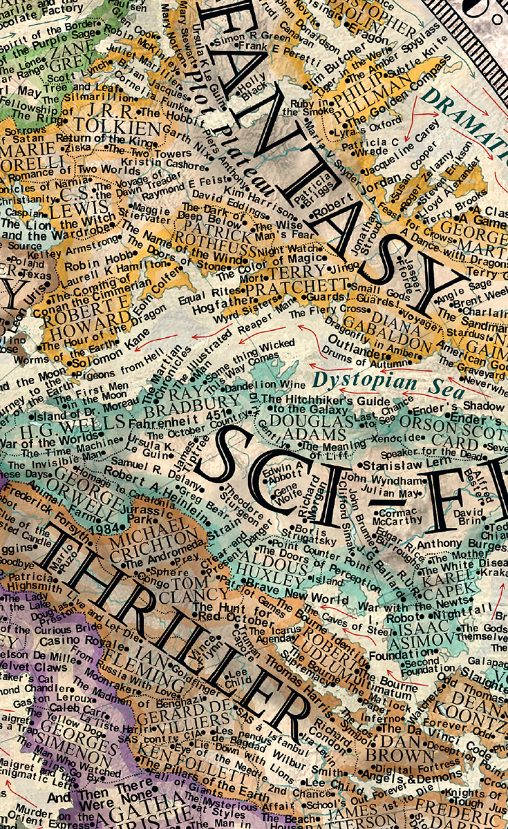 A 17 year old artist created this incredible map of literature a 17 year old artist created this incredible map of literature gumiabroncs Gallery