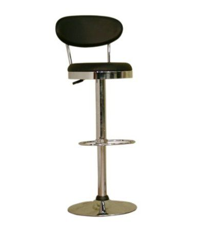 Amazon.com: Baxton Studio Veronica Vinyl Swivel Bar Stool, Black: Furniture & Decor