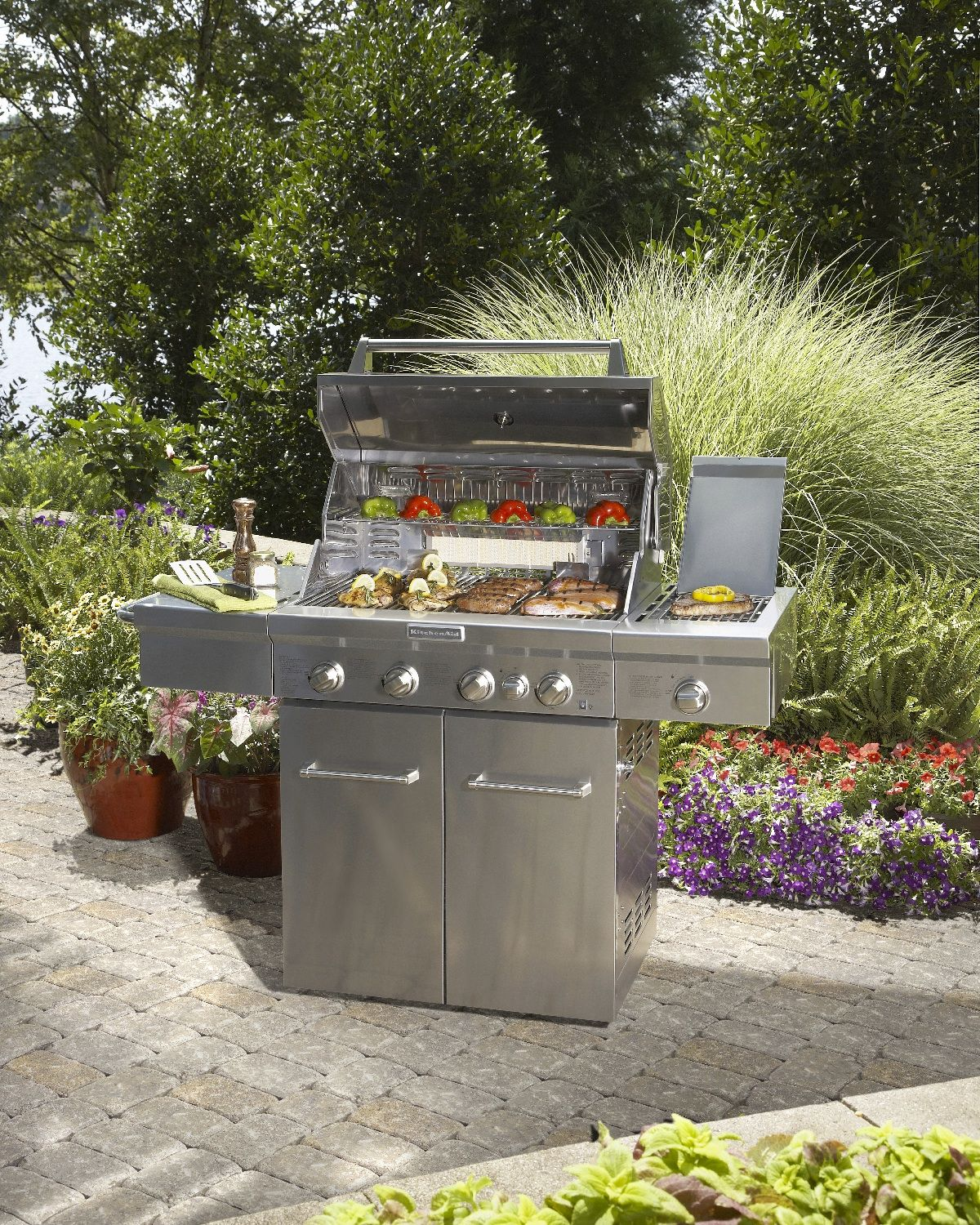 Grill out in style this spring with a KitchenAid 4 burner ...