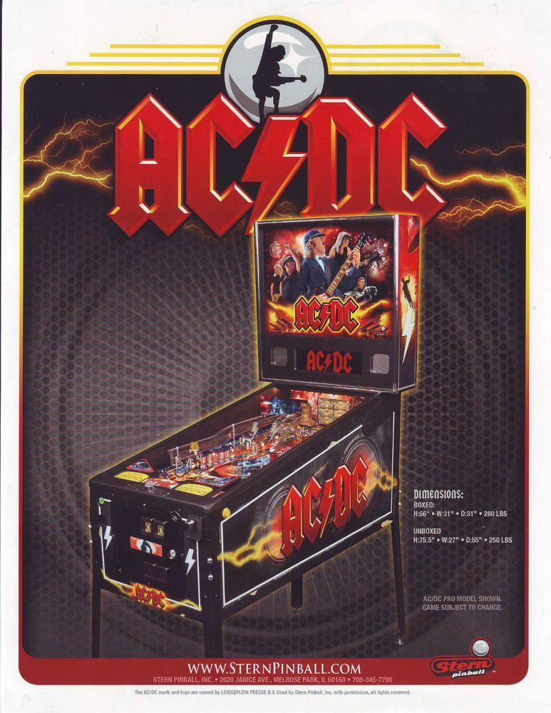 Stern AC/DC Original 2012 NOS Flipper Game Pinball Machine