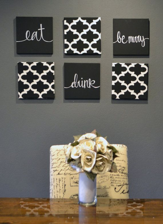 Dining Room Wall Art Set Eat Drink And Be Merry Wall Decor