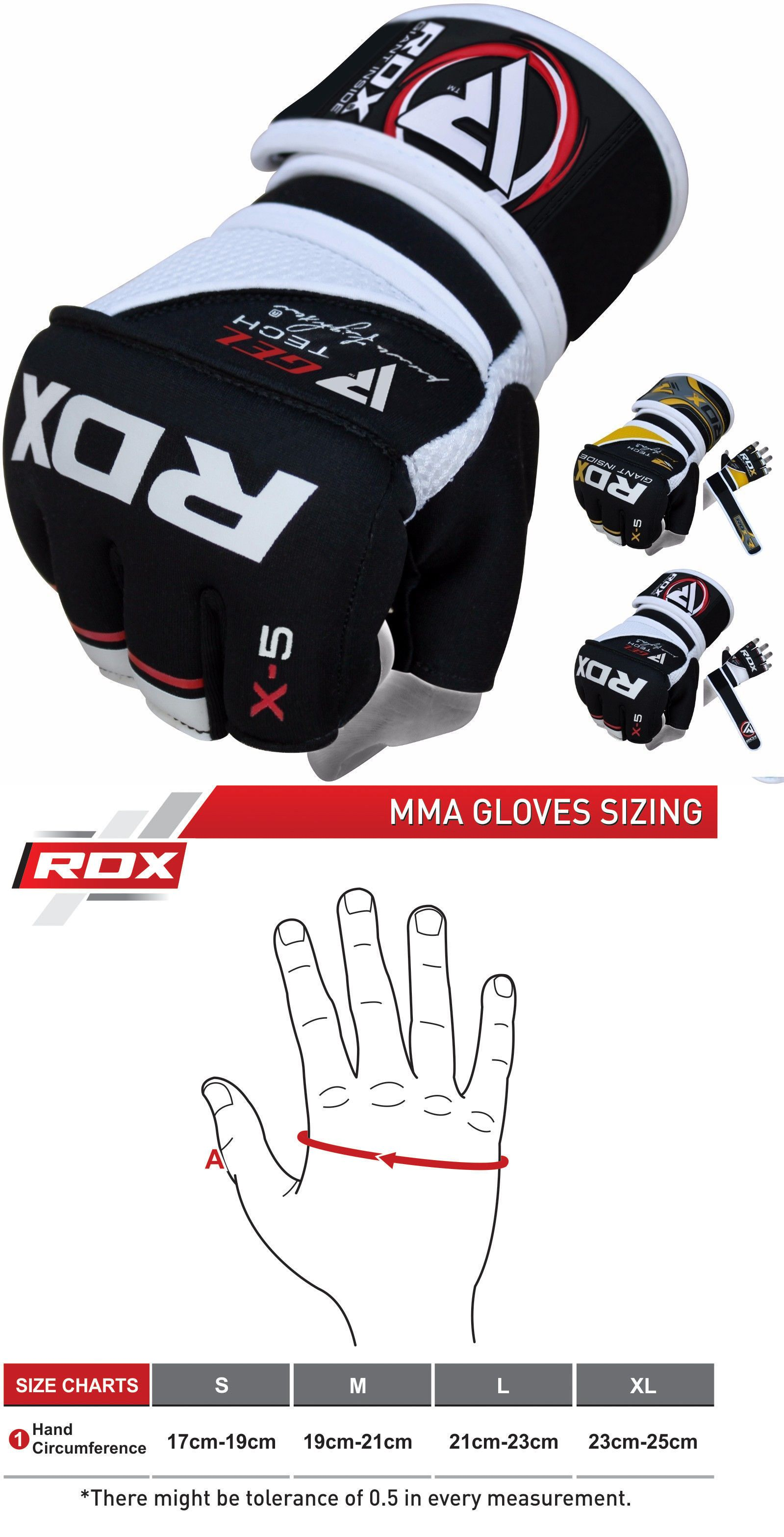 RDX Leather MMA Gloves Grappling Boxing Punching Bag Cage  Fighting CA