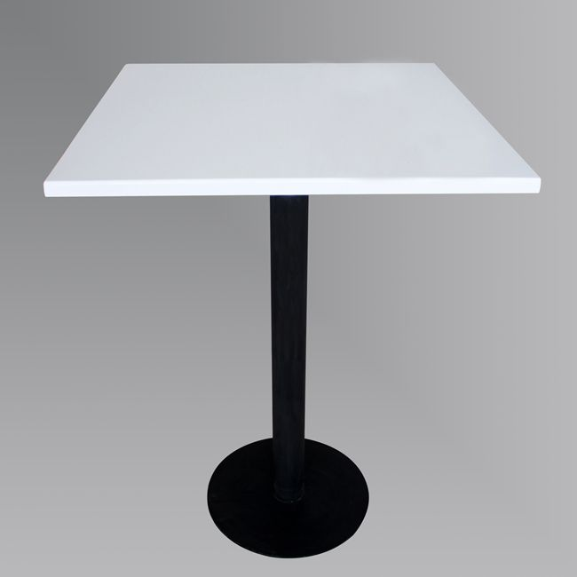 Freestanding Black Square Dining Table With Solid Surface Top TW MATB 048