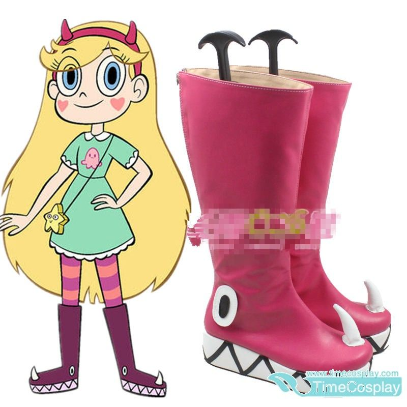 Star vs.the Forces of Evil Princess Star Butterfly Magic Cosplay Shoes BootsW027
