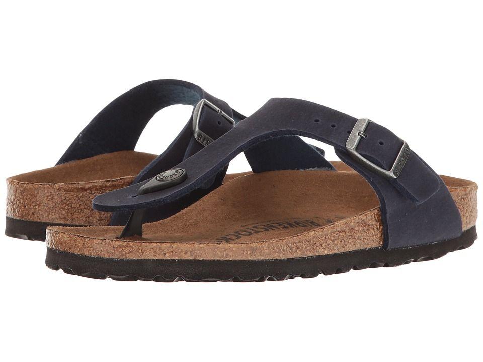 Birkenstock Gizeh Vegan Women's Sandals Navy Microfiber