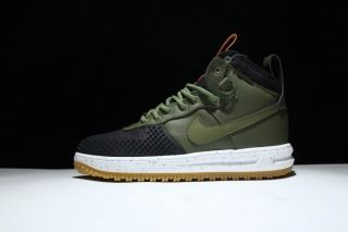 b2f00e13200 Nike Lunar Force One 1 Duckboot Boot Black Dark Loden Bright Crimson Gum  Light Mens Casual Shoes Sneakers 805899 001