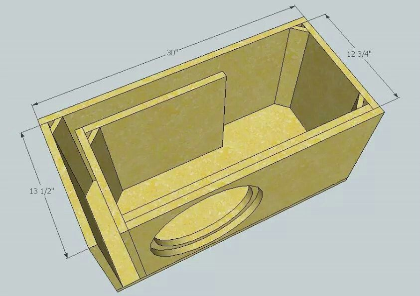Single 12 Ported Box 2 0 Cu Ft 33hz Subwoofer Box Design Subwoofer Box Sub Box Design