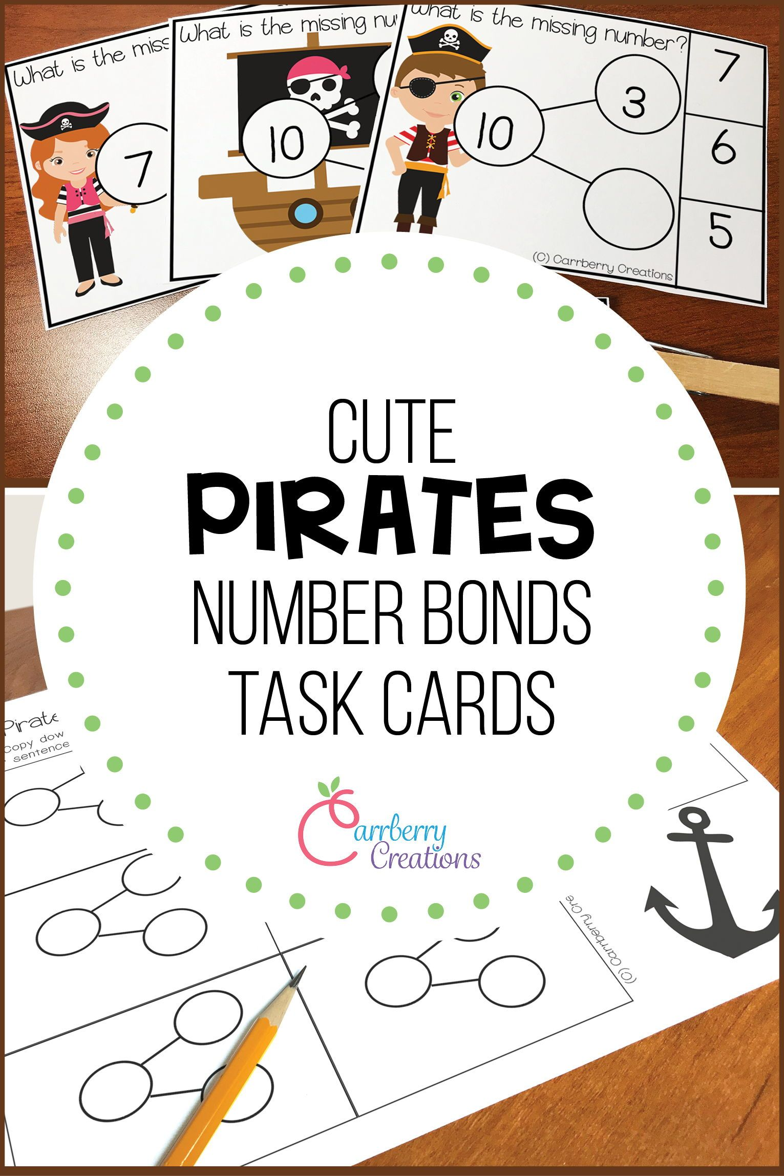 Addition Task Cards Pirate Theme In