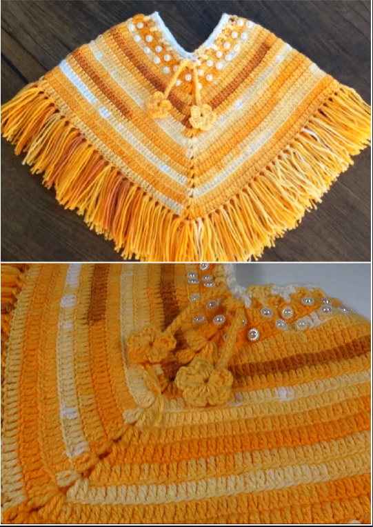 Crochet Poncho From 2 To 5 Years | CROCHET | Crochet poncho