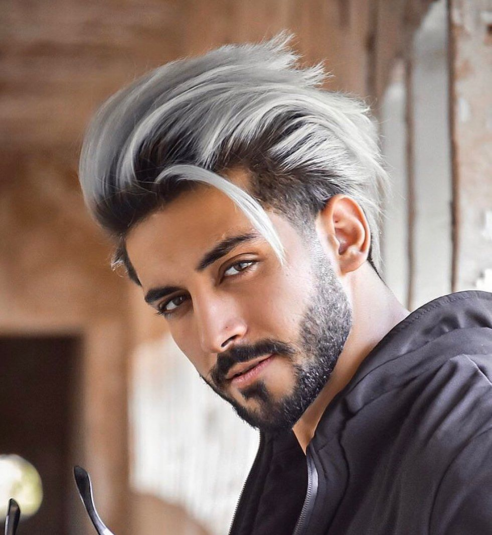 Men S Hairstyles On Instagram Thoughts On This Style Follow Mens Hairstyles For More Tag A Frie White Hair Men Men Hair Color Men Hair Highlights