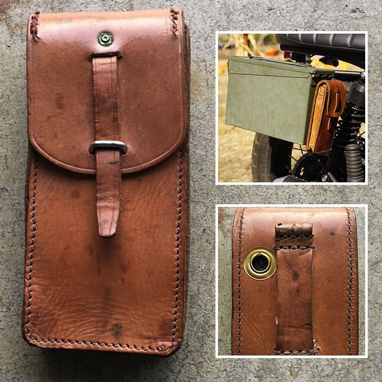 Vintage Leather Ammo Pouch Ammo Pouch Leather Vintage Leather