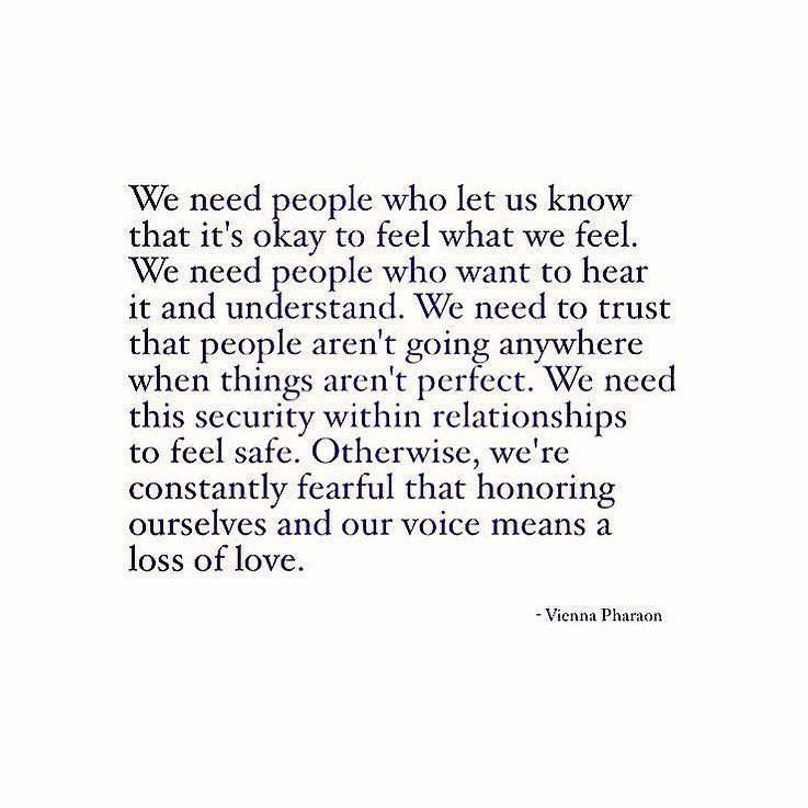 We All Want To Trust And Believe That We Can Share