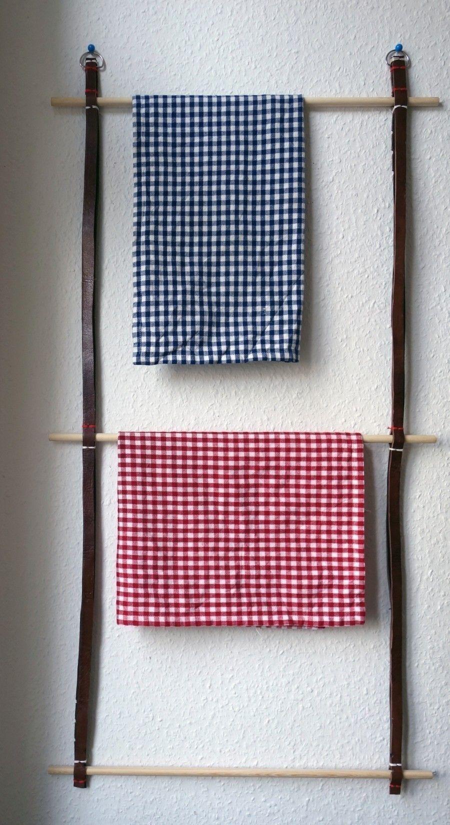 Handtuchhalter aus alten Gürteln selber machen