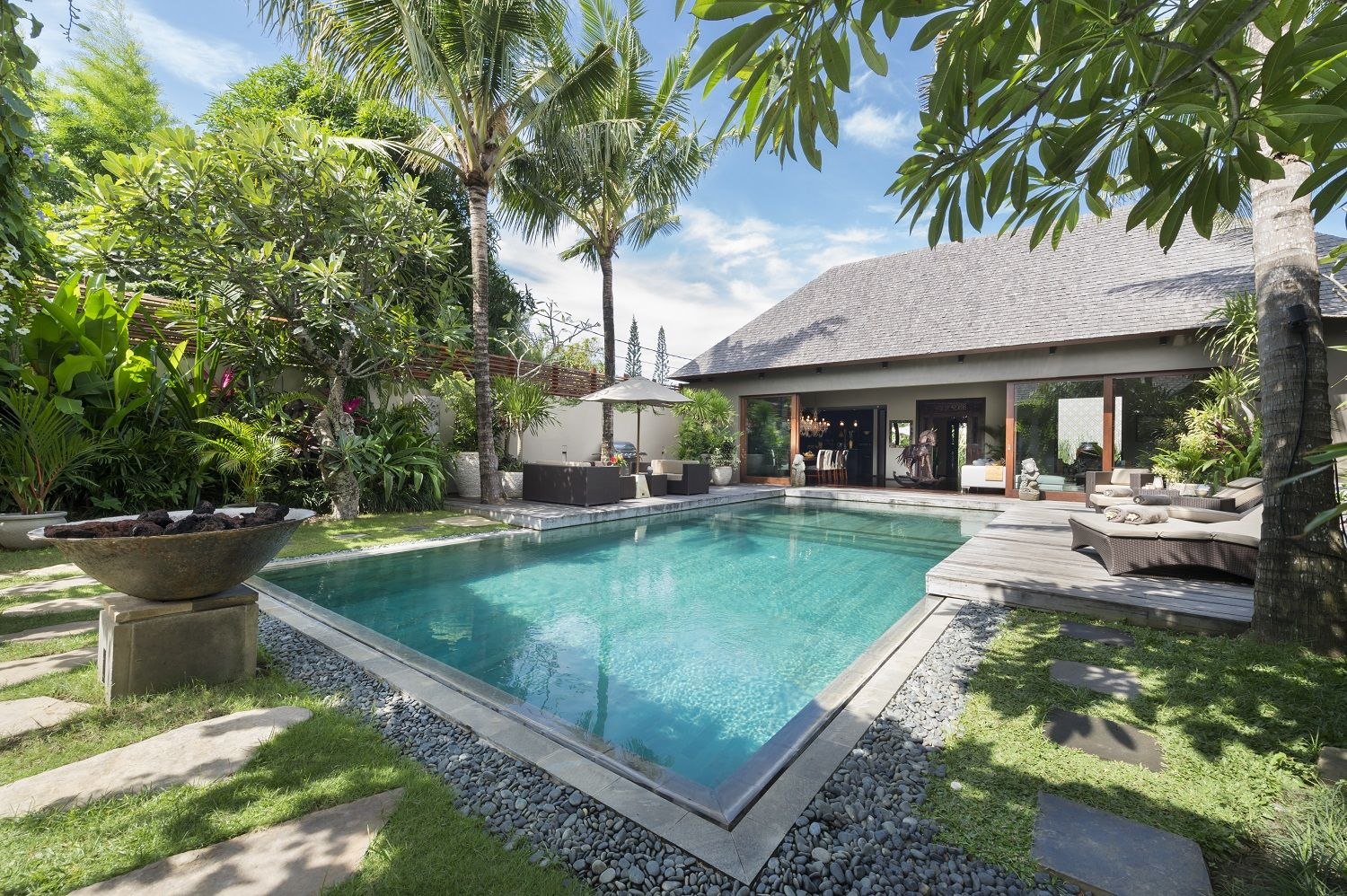 Eshara I Gardens And Pool In 2020 Bali Villa Wooden Decks