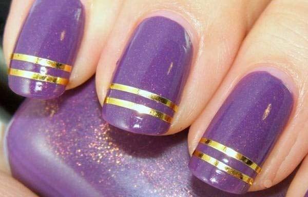 Unas Decoradas Color Morado Nails Unas Nail Designs Nails Y