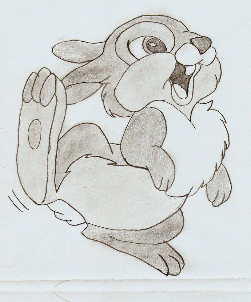 What A Cute Thumper Disney Drawings Cute Disney Drawings